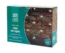 105 Led Solar Net Lights White