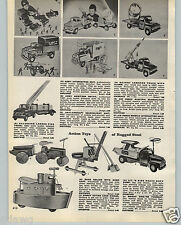 1959 PAPER AD Buddy L Toy Brinks Armored Truck Army Inspection Unit Howitzer