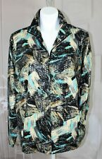 Womens LAURA ASHLEY WOMAN NEW Size 2X Metallic  zip up jacket blouse $148 MSRP