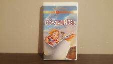 The rescuers down under   CLAMSHELL VHS   no booklet
