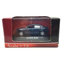 Road Signature Yat Ming Audi RS6 4 Door Car Blue Die Cast 1/72 Scale