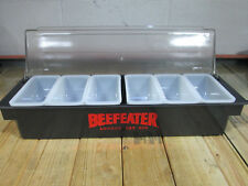 Beefeater London Dry Gin Condiment Holder w/ 6 Pint Trays, by Co-Rect