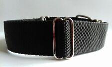 "Plain Black Martingale Dog Collar 1.5"" wide Bull Dog Labrador Staffie XL XLarge"