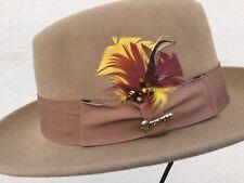 BILTMORE Black Oak Royal Pecan 55cm 6 7/8 Small Fur Felt Fedora Pork Pie Hat