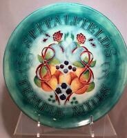 "Vtg 1991 Moorcroft SPITALFIELDS TEMPLE MILLS Plate Fruit & Bows 9"" Diameter NICE"