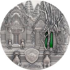 PALAU 2019 Angkor Khmer Temple Tiffany Art $50 1kg Ag CoA Box UNC