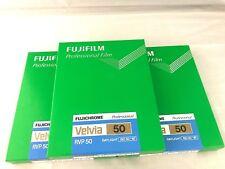 3 Packs FUJIFILM VELVIA 50 4x5 Film 20 Sheet/pack CUTVELVIA50NP4X520 FRESH Film