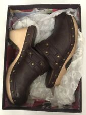 Lucky Brand Clogs Mali Leather Wood Clogs French Roast Florence Brown Size 9