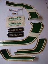 OSSA MICK ANDREWS DECALS KIT NEW  OSSA TRIAL STICKERS GAS TANK OSSA MAR DECALS