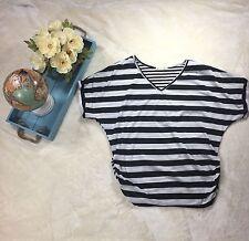 Shop TT Stripe Black & White T With Ribs Size 1X