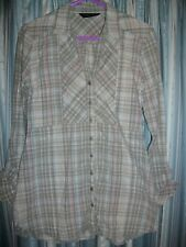 Grey Check Overshirt Size 10 Dorothy Perkins