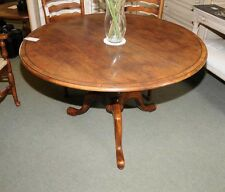 Round Oak Farmhouse Dining Table English Furniture