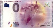 44 SAINT-NAZAIRE Sous-marin Espadon, 2015, Billet 0 Euro Souvenir