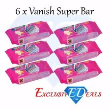 6 x Vanish Super Soap Bar  Multi Fabric Stain Remover With Enzymatic Action