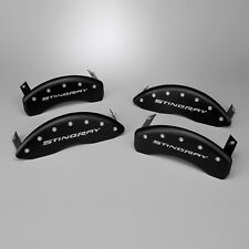 New Brake Caliper Cover Set - Black w Script (2014-2019 C7 Corvette Stingray)
