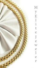 10K Men's Franco Curb Chain Necklace 26 Inches 5 MM Lobster Lock Yellow Gold
