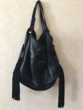 Zara Leather BOHO bag Fringe Suede $169 Retail