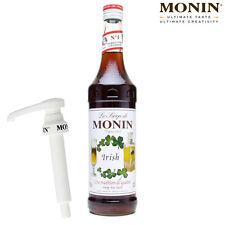 MONIN Coffee Syrup - 70cl Glass IRISH Syrup & Pump Set - USED BY COSTA COFFEE