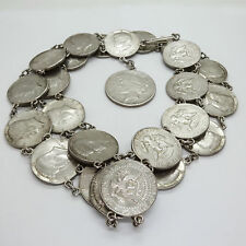 Genuine John F. Kennedy Silver Half Dollar & Peace Dollar Coin Belt