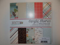 WINTER WONDERLAND 6X6 PAPER PAD SIMPLE STORIES 6X6 STACK PINECONES CARDS