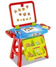 Childs 2 in 1 Learning Desk & Magnetic Easel Blackboard White Board Letters