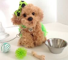 """Pet Labradoodle Dog for American Girl Doll 18"""" Accessories Fits Leash Collar Set"""