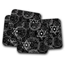4 Set - Pentagram Symbol Coaster - Pagan Witchcraft Wicca Magic Cool Gift #14458
