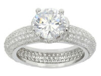 Size 7 - Bella Luce 7.74ctw Rhodium Over Sterling Silver Ring (4.18ctw Dew)