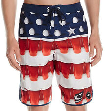 E604 - O'Neill Beer Pong Scallop Board Shorts - NWT Mens 36 Multi - #28944