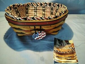Longaberger Basket 1999 All American Collection Blue Ribbon Bread