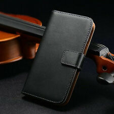 NEW Genuine Real Leather Card Wallet Cover Case For Samsung Galaxy S4 Mini I9190