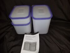 Tupperware Modular Pak N Stor Storage Container Set  Airtight Rounded Edges