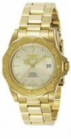 Invicta Men's Watch Pro Diver Automatic Champagne Dial Yellow Gold Bracelet 9010