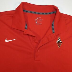 NIKE DRI FIT LAS VEGAS ACES WNBA BASKETBALL POLO GOLF SHIRT Sz Mens L Red