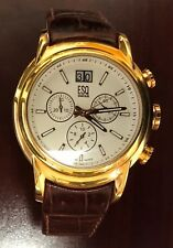 ESQ by Movado Quest Chronograph, Rose Gold Plated Leather Strap Men's Watch $495