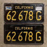 1963 California truck license plate pair 62678 G YOM DMV clear Ford Chevy 1969