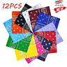 12 X Cotton PAISLEY Print Designs Scarf BANDANA Handkerchief HEea WRra Wristband