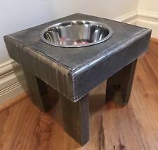 Elevated Pallet Dog Bowl Stand Pet Feeding Station Large Dogs 1 Bowl Included