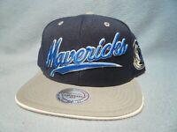 Mitchell & Ness Dallas Mavericks Billboard Script NEW Snapback cap hat Mavs