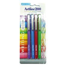 4pc Artline 200 Work/School Fineline Pen Stationery Fine 0.4mm Assorted Colours