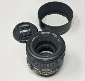 Nikon AF-S Nikkor 50mm f/1.8G Lens - Plus Lens Hood