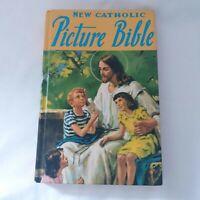 Vintage The New Catholic Picture Bible Children's Bible 1990 Color Illustration