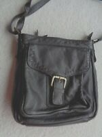 LAKELAND Dark Brown Soft Leather Medium Cross Body Bag - Stunning!
