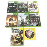 Xbox 360 Game Lot, 8 Games Included --- See listing for games list