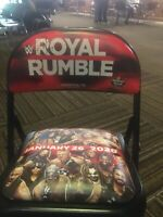 WWE ROYAL RUMBLE Ringside Chair HOUSTON 2020 Signed By Edge WWF