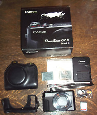 Canon PowerShot G7X Mark II 20.1 MP Compact Digital Camera - Black PSG7X in Box