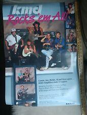 Vintage BON JOVI OVATION KMD Richie Sambora Al DiMeola Lonnie Mack rare poster