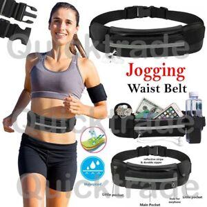 Unisex Travel Bum Bag Sports Running Jogging Waist Phone Keys Mobile Money Belt-