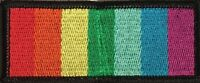 RAINBOW FLAG RIBBON EMBROIDERED PATCH GAY & LESBIAN LGBT PRIDE IRON/SEW K-21