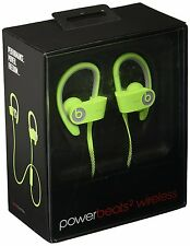 Genuine Beats by Dr. Dre Powerbeats2 Wireless Green Ear-Hook Headphones (223133)